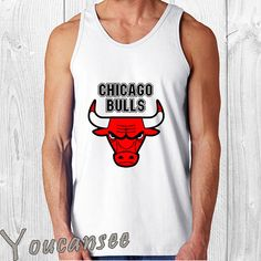 02fc95dd8a00a chicago bulls men tank top print screen tank top for by YouCanSee