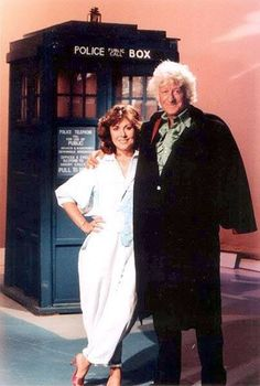 The 3rd Doctor (Jon Pertwee) & Sarah Jane Smith (Elisabeth Sladen)