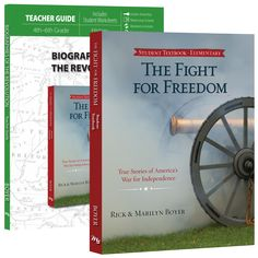 Homeschool History Curriculum from a Biblical Worldview. In simple, entertaining story form, your student will be introduced to the leaders, the causes, and the challenges of the Revolutionary War. The adventures of statesmen, soldiers, sailors, spies, and Native American fighters illustrate how God worked both naturally and supernaturally to build a free nation out of 13 scattered English colonies.