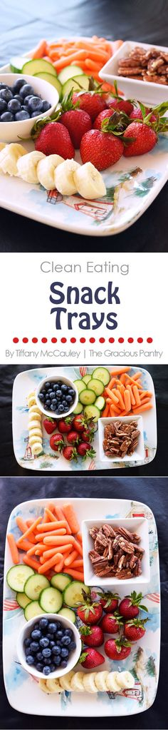 Easily feed the kids all summer long with these clean eating snack tray ideas! #CleanEating #Snacks