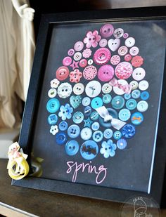 Buttons - Easter craft