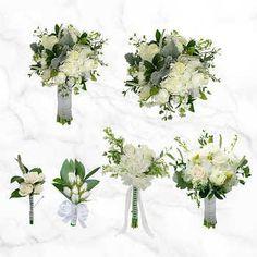 Soft Grace Wedding Package Water Flowers, Fresh Flowers, Bulk Roses, Star Of Bethlehem, Dusty Miller, Photo Center, Spray Roses, Vase Centerpieces, Garland Wedding