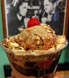 Chocolate Sundae with Strawberries & Nuts