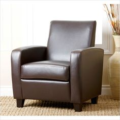 Capella Bonded Leather Club Chair in Dark Brown - AD-PCY-52S-P1-BRN - Lowest price online on all Capella Bonded Leather Club Chair in Dark Brown - AD-PCY-52S-P1-BRN