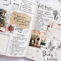 Close up on a bullet journal spread by @journalsanctuary.
