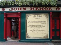 KEHOE'S - Dublin. Situated just off Grafton Street, this is a traditional and popular haunt amongst locals and visitors alike. Always busy, there is a great buzz in this place!