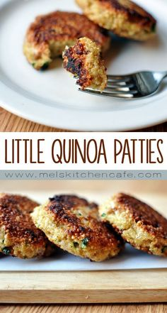 These adorable little quinoa patties are so remarkably delicious. They ...