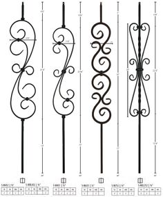 iron spindles for interior stairs | Iron Balusters, Newels, and Accessories
