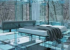 Futuristic Glass House- Those who live in glass houses....