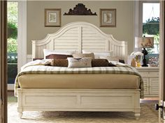 Universal Furniture Paula Deen Home Bedroom Collection with Steel Magnolia Bed White Bedroom Furniture, Bed Furniture, Linen Bedroom, Furniture Outlet, Online Furniture, Furniture Websites, Furniture Movers, Furniture Styles, Cheap Furniture
