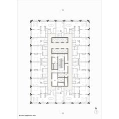Hotel Floor Plan, Tower Apartment, Apartment Floor Plans, High Rise Building, Room Planning, Architecture Plan, Building Plans, Planer, How To Plan