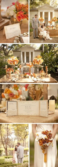 I want to get married in the fall just becasue of this color scheme!
