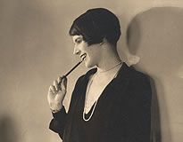 """Lois Long - New York columnist who wrote under the name of """"Lipstick"""". She epitomized the post WW1 flapper atmosphere of the 20's and lived like her motto """"Tomorrow we may die, so let's get drunk and make love."""""""