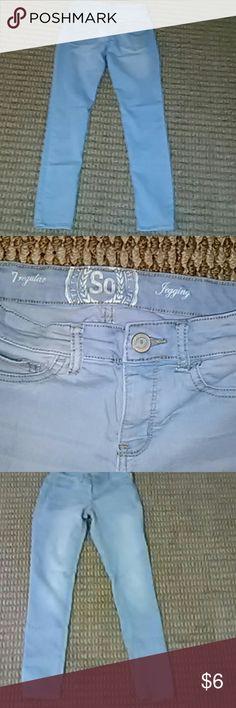 Light blue jeggings Nice and stretchy. Plenty of wear left. Jeans Skinny