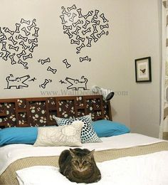 Dog Looking For Lover Wall Decals – WallDecalMall.com