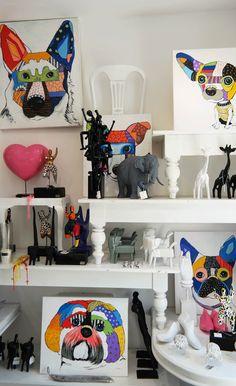 Mix pop art and exotic sculptures