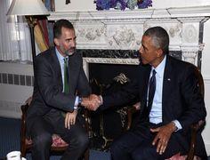 Fotografía de la reunión del Rey don Felipe y Barack Obama en Nueva York.