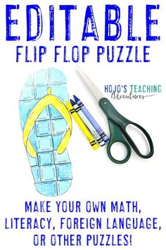 Flip Flop Activities for Kids 5th Grade Classroom, Middle School Classroom, Math Literacy, Fun Math, Practice Math Problems, Fast Finishers, Primary Teaching, Critical Thinking Skills, Student Reading