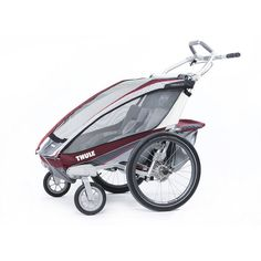 Thule Chariot CX 2 Multi-Sport Double Child Carrier & Stroller, Red