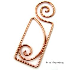 Art Nouveau Wire Pendant Tutorial (Video) by Rena Klingenberg