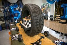 Are you ready to hear engines roar and see dirt fly? Check out this awesome Monster Truck Birthday Party at Kara's Party Ideas.
