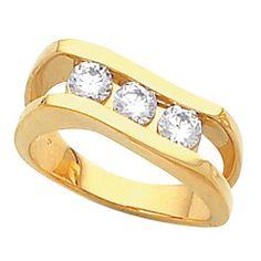 3-Stone Channel-Set Ring | Stuller.com