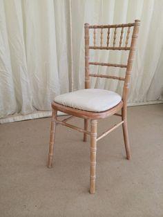 Limewash chivari chairs!