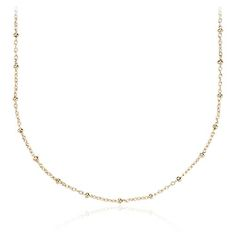 30 inches long, this bead link necklace is the prefect piece to satisfy all your layering needs. Wear it on its own or with your favorite pendant, this 14k gold necklace will be sure to match any style.