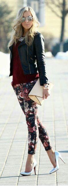 Pantalón floreados chick