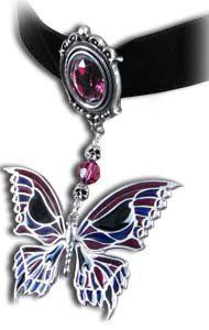 Death's-Head Butterfly Choker - Alchemy Gothic Pendant Necklace Alchemy of England. $81.60