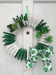 St. Patrick's Day Wreath Irish Shamrocks by QteBoutique on Etsy