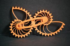 3D Printed Logarithmic Nautilus Gear Sprial Toy Puzzle 3-D Print Geekery Nautical