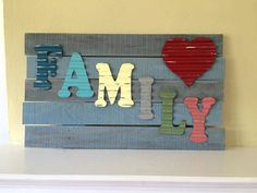 Family sign wood metal distressed OOAK by MySugarBlossom on Etsy