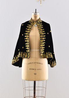 1930s velvet cape / 30s opera cape  / vintage 1930s velvet cape. $214.00, via Etsy.