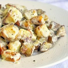 Creamy Parmesan Bacon Potatoes is just one of our side dish suggestions for this weekend's Father's Day BBQ. Get other great recipe suggestions for sides, desserts and great grilled meats for a terrific Dad's Day dinner.