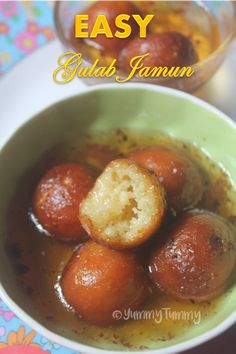 Super delicious gulab jamun recipe which is so yummy and is really easy to make. Indian Dessert Recipes, Indian Sweets, Indian Snacks, Sweets Recipes, Gourmet Recipes, Snack Recipes, Cooking Recipes, Easy Gulab Jamun Recipe, Kulfi Recipe