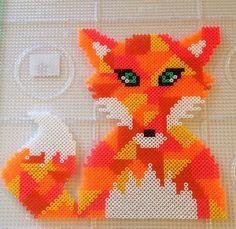 Hama perler bead fox by Mette Harbo