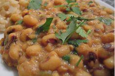 Savory Black-Eyed Peas | Serve this creamy vegetable dish with rice. #blackeyedpeas #rice #veggies #recipes