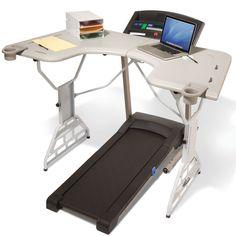 The Treadmill Desk - Hammacher Schlemmer