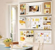 white bookshelves design home wall storage 555x499 Modern Home Storage and Organization Furniture from Pottery Barn