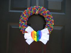 Rainbow Gay Pride Love Beaded Wreath.55.