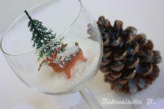 glass verre vin faon sapin noel christmas