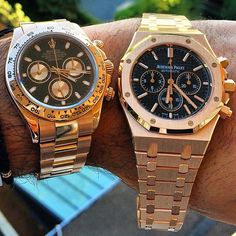 Rolex Daytona Cosmograph & Audemars Piguet Royal Oak Chronograph Pink Gold