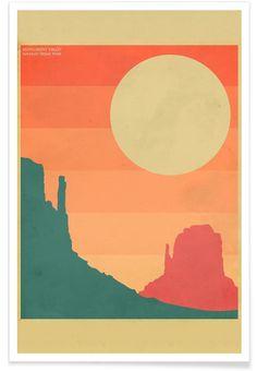 Monument Valley en Affiche premium par Jazzberry Blue   JUNIQE