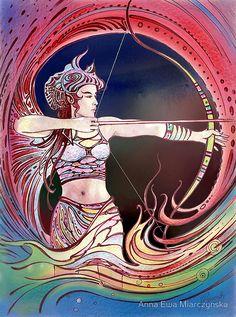 AstroSpirit / Sagittarius ♐ / Fire / The Archer / The Centaur / Anna Ewa Miarczynska