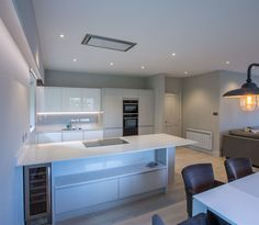 ATLANTIS KITCHENS PROJECT | Ambleside | Handleless Gloss Grey & White…