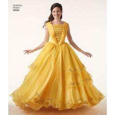 Simplicity Pattern EA840401 Misses' Disney Live Action Belle Costume