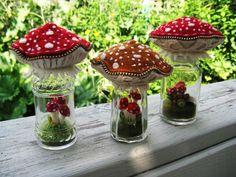 Yesterday's terrarium mushroom pincushions | Flickr - Photo Sharing!