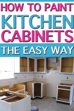 Kitchen Updating Ideas Learn how to paint kitchen cabinets so they actually last. It's an inexpensive and easy way to update your kitchen. Check out our method that looks as good as new seven years later! Diy Kitchen Cabinets, Painting Kitchen Cabinets, Kitchen Paint, Kitchen Furniture, Kitchen Remodeling, Remodeling Ideas, Kitchen Storage, Types Of Cabinets, Built In Cabinets