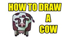 How To Draw A Cow- Step By Step Drawing - How To Draw